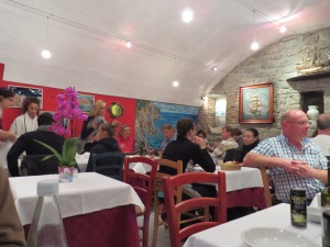 Trattoria La Scogliera (The Cliffs). Cute, nice service if a bit disorganized.