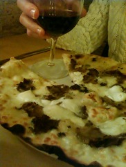 Melissa chose a pizza with black truffles. The favors were amazing!