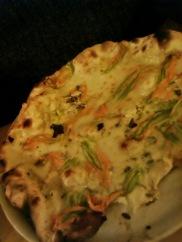 Bill's choice: Pizza fiori di zucca (zucchini flowers).