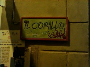 Il Corallo on the street of the same name.