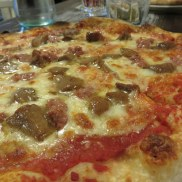 My choice, Pizza Casareccia with sausage and porcini.