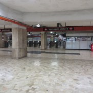 Empty Metro station is kind of eerie.