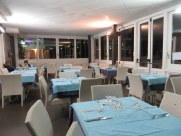 Hotel Crescenzo, quiet on Easter night. No kidding! There was a substantial crowd for aperitivi, then only a few....