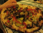 Ric went for the vegetarian pizza this time and it was so good I may abandon the salmon for it next time.