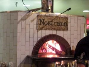 Nostrana's traditional forno a legna.