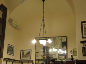 Soaring ceilings and old-fashioned fixtures are charming, but there were too few people even at teh peak time on a Friday.