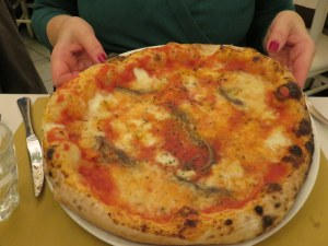 One of my theree favorite pizzas, Pizza Napoli, with anchovies.