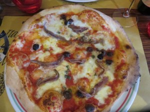 My pizza Napoli was perfect.Terrific anchovies, a few capers, delicious mozzarella and flavorful sauce.