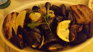 I can eat cozze e vongole (clams and mussels) all night. And did.