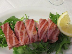 I did not discover teh tuna until about 15 months ago. Now I order it every time. Done to perfection!