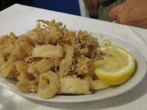 Zoe's calamari fritti. Not greasy, not previously frozen. Made fresh daily.