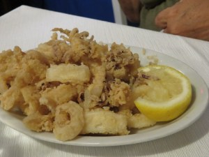 Zoe's calamari fritti. Not greasy, not previously frozen. Made fresh daily.